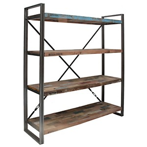 Bibliothèque en bois 4 étagères  Industry