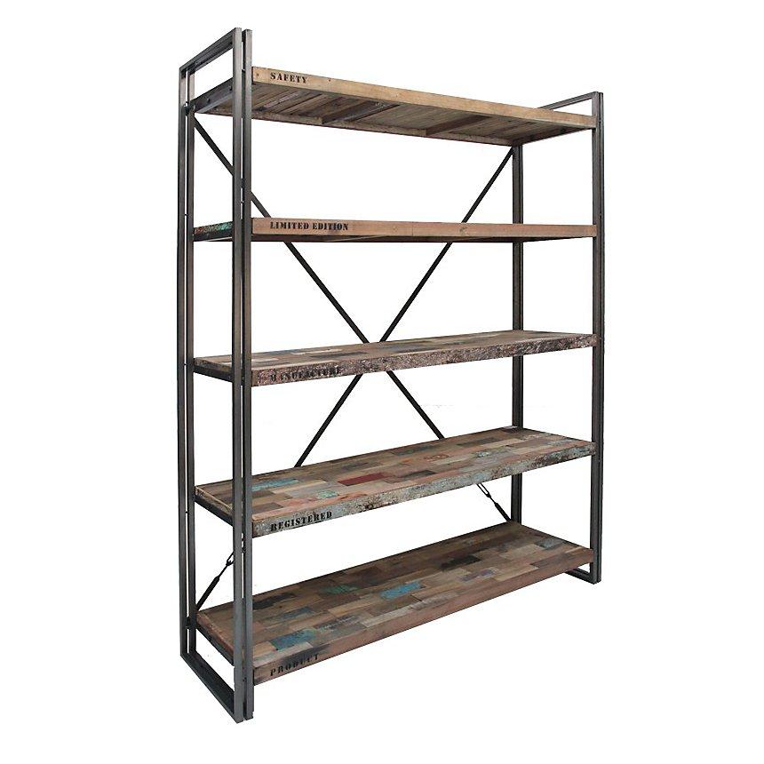 Bibliothèque en bois 5 étagères  Industry