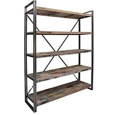 Bibliothèque en bois 5 étagères  Industr