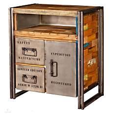 Buffet en bois 1 porte 2 tiroirs  Indust...