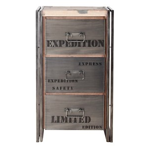 Chiffonnier en bois 3 tiroirs  Industry