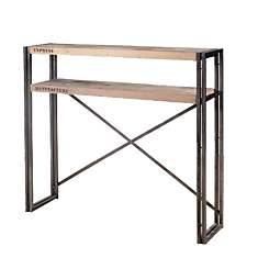 Console en bois 2 plateaux  Industry