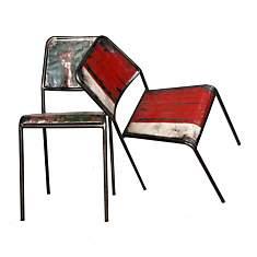Duo de chaises en métal  Industry