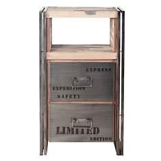 Meuble en bois 2 tiroirs  Industry