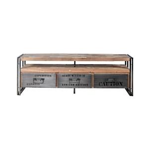 Meuble TV en bois 3 tiroirs  Industry