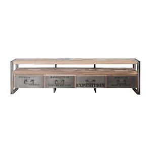 Meuble TV en bois 4 tiroirs  Industry