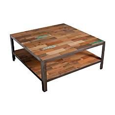 Table basse carrée double plateau  Fabri...