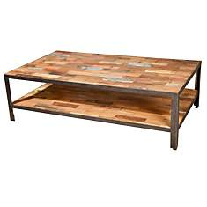 Table basse rectangulaire double plateau...
