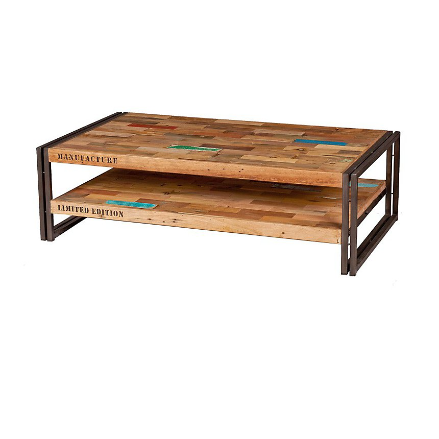 Table basse en bois rectangulaire  Industry