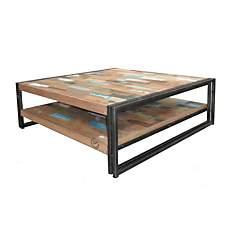Table basse en bois carrée Industry