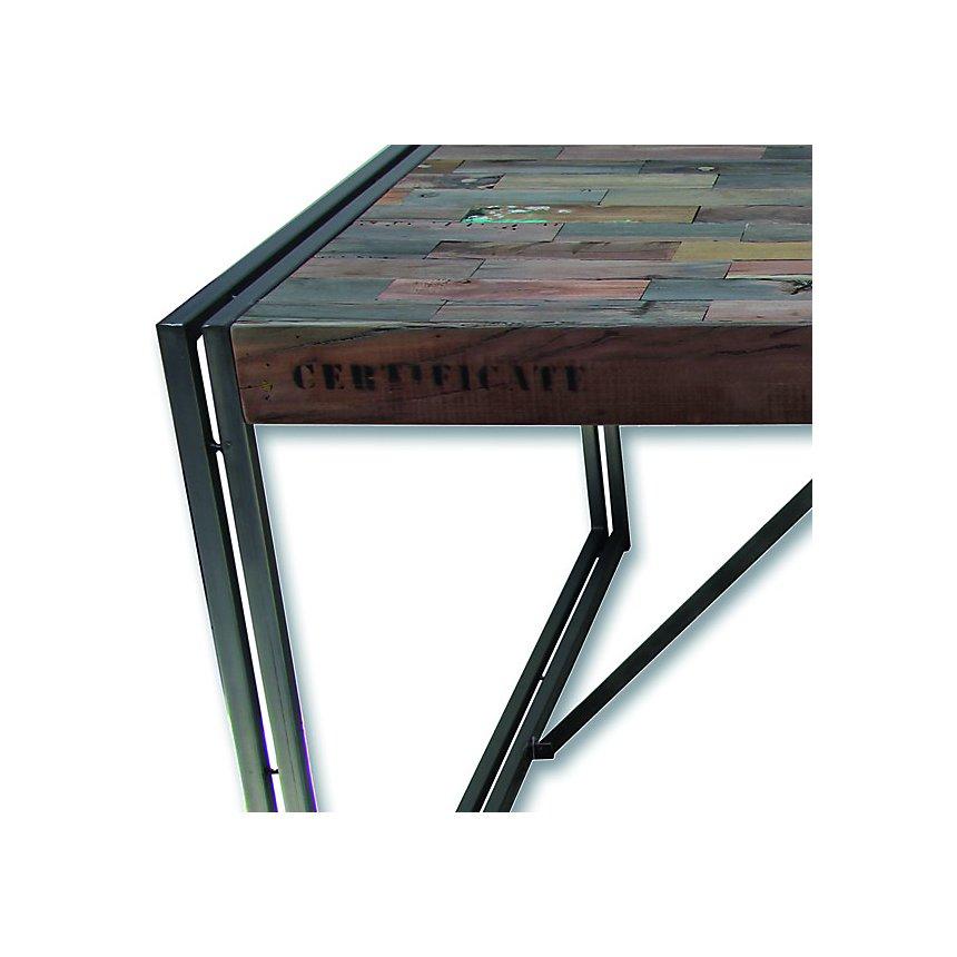 Table de repas en bois carrée 140 cm Industry