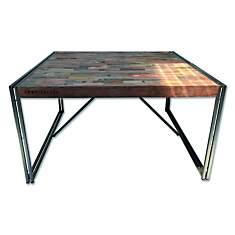 Table de repas en bois carrée 140 cm Ind...
