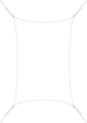 Voile d'ombrage rectangulaire 3 x 4,5 m