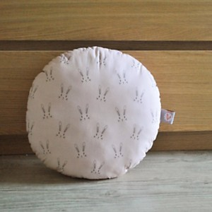Coussin rond Lapin rose