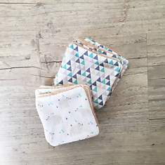 Lot de 10 lingettes lavables Ours polair