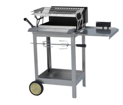 Grilloir mFog avec bac horizontal, grille, lèche frites et chariot