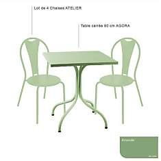 Ensemble table carrée Agora et 4 chaises...