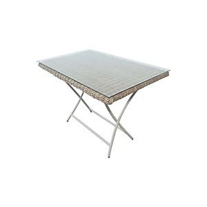 Table de jardin pliante rectangulaire en