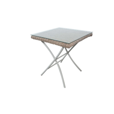 Table de jardin carrée pliante en Kubu Borneo  CITY GREEN
