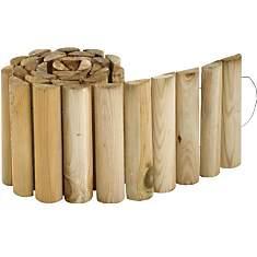 Bordure à dérouler en pin autoclave