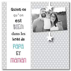 Cadre photo Papa et Maman