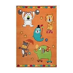 Tapis orange Little Artists