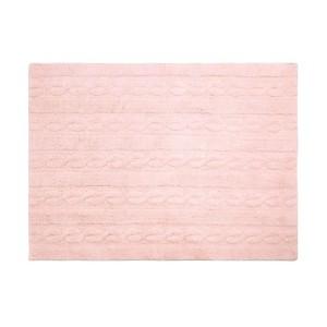 Tapis rose pastel Trenzas Lorena Canals