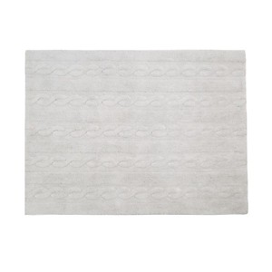 Tapis gris perle Trenzas Lorena Canals
