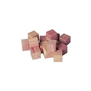Lot de 16 cubes en cèdre naturel