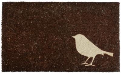 Tapis en fibres de coco motif Oiseau