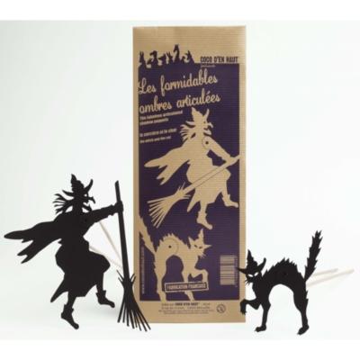 Pochette de silhouettes sorcière et