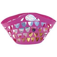 Cabas de plage rose avec accessoires -