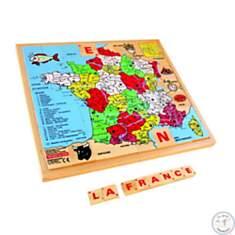 Carte de France - puzzle en bois