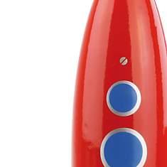 Fusée rouge en bois