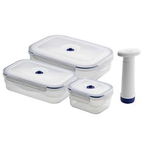 Lot de 3 boîtes alimentaires avec pompe