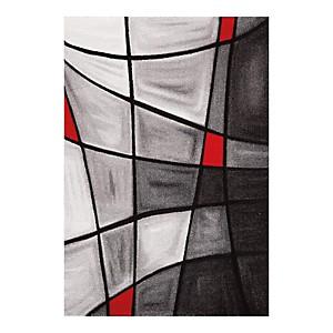 Tapis effet 3D gris et rouge Chic AlloTapis