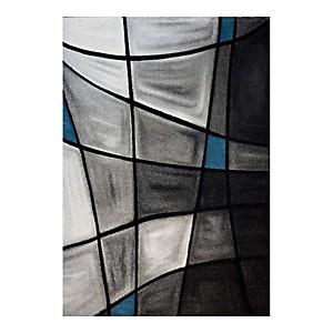 Tapis effet 3D gris et bleu Chic AlloTapis