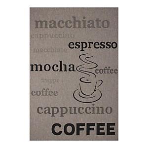 Tapis aux velours fins Fipoca Espresso Argenté AlloTapis