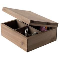 Boîte à couvercle compartimentée, en bo