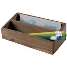 Casier 2 compartiments en bois  « Vintag
