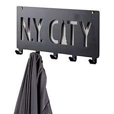 Patère à fixer  «N.Y. City » noire