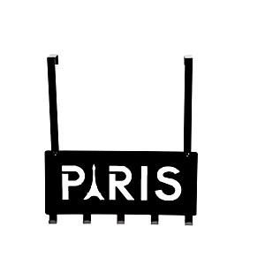 Patère de porte 'Paris' noir