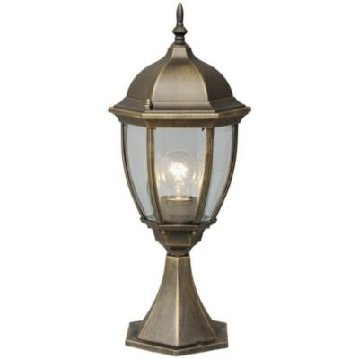 Lampe de jardin lanterne pointue noire dorée