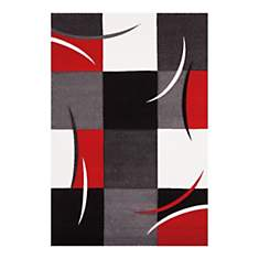 Tapis de salon rouge California AlloTapi