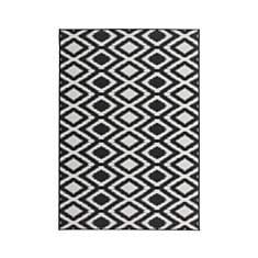 Tapis moderne effet sisal noir et blanc