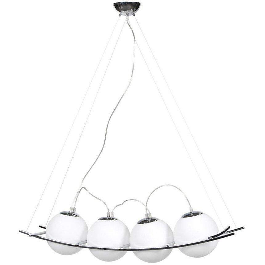 Suspension design Uranus verre blanc