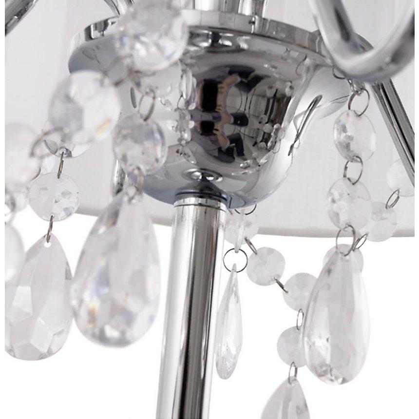 En Abat Avec Jour Poser Tissu Diamonds Blanc Lampe 49x35cm À HED9WY2I