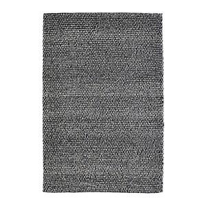 Tapis laine et viscose graphite Beluga Deladeco