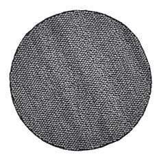 Tapis rond laine et viscose graphite Bel