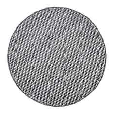 Tapis rond laine et viscose argenté Belu